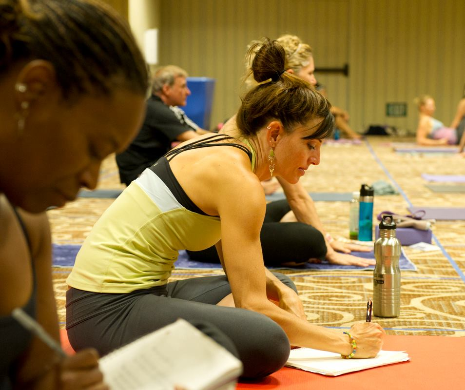 Kelli Russell at yoga journal conference